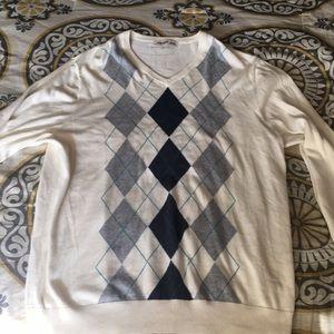 Old Navy argyle sweater men's size XXL